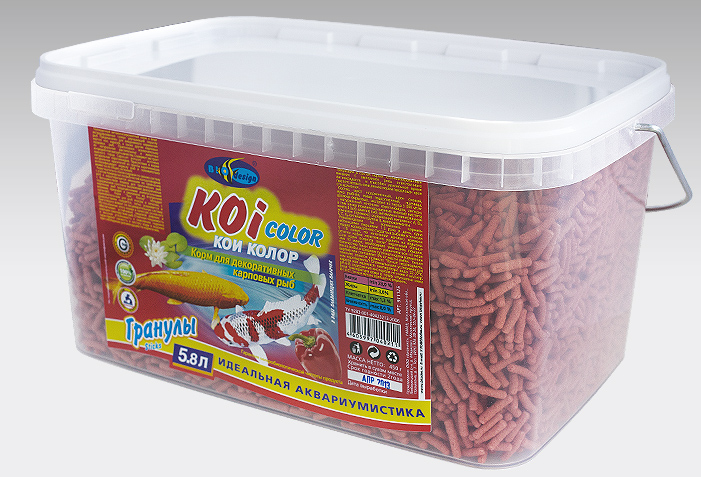 КОИ-КОЛОР плавающие палочки (sticks) корм для декоративных карповых рыб (ВЕДРО 5,8 литров) 911125