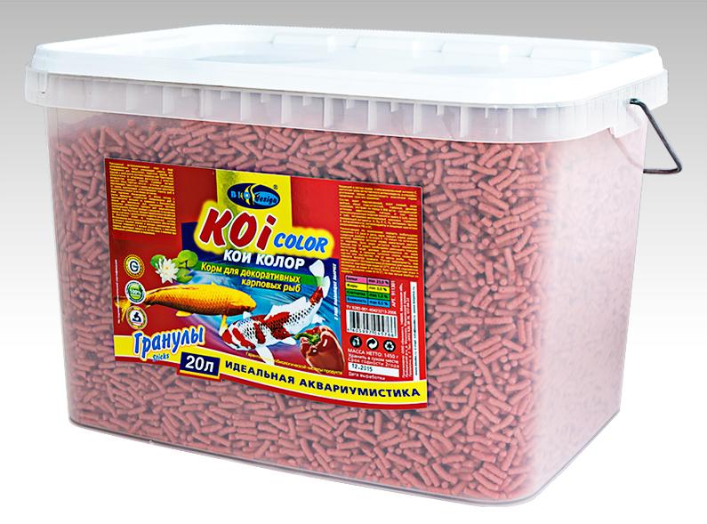 КОИ-КОЛОР плавающие палочки (sticks) корм для декоративных карповых рыб (ВЕДРО 20 литров) 911301