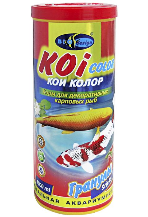 КОИ-КОЛОР плавающие палочки (sticks) корм для декоративных карповых рыб (банка 1000 мл) 911124