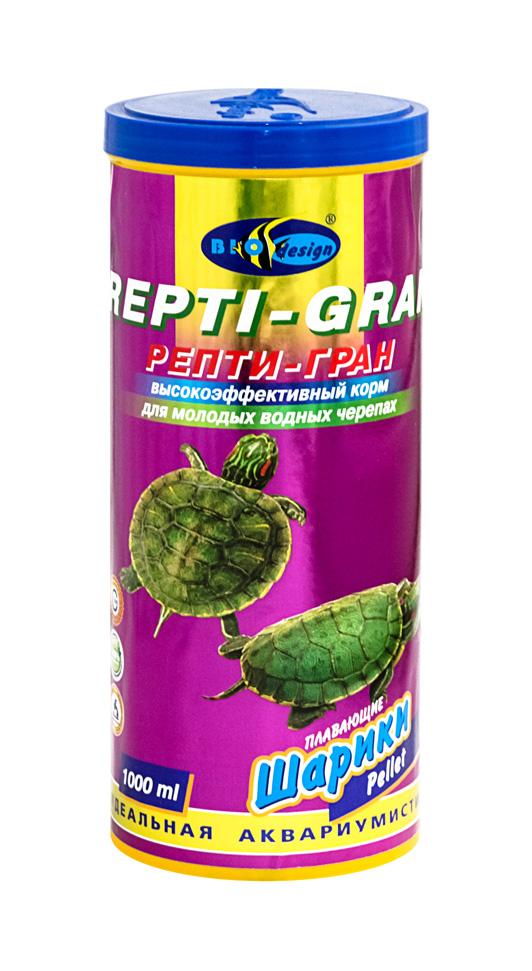 РЕПТИ-ГРАН плавающие гранулы корм для молодых водных черепах (банка 1000 мл) 911377