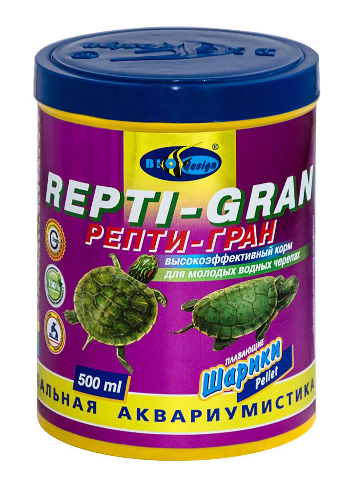 РЕПТИ-ГРАН плавающие гранулы корм для молодых водных черепах (банка 500 мл) 911376