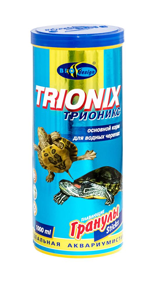 ТРИОНИКС плавающие палочки (sticks) 2 вида корм для водных черепах (банка 1000 мл) 911071