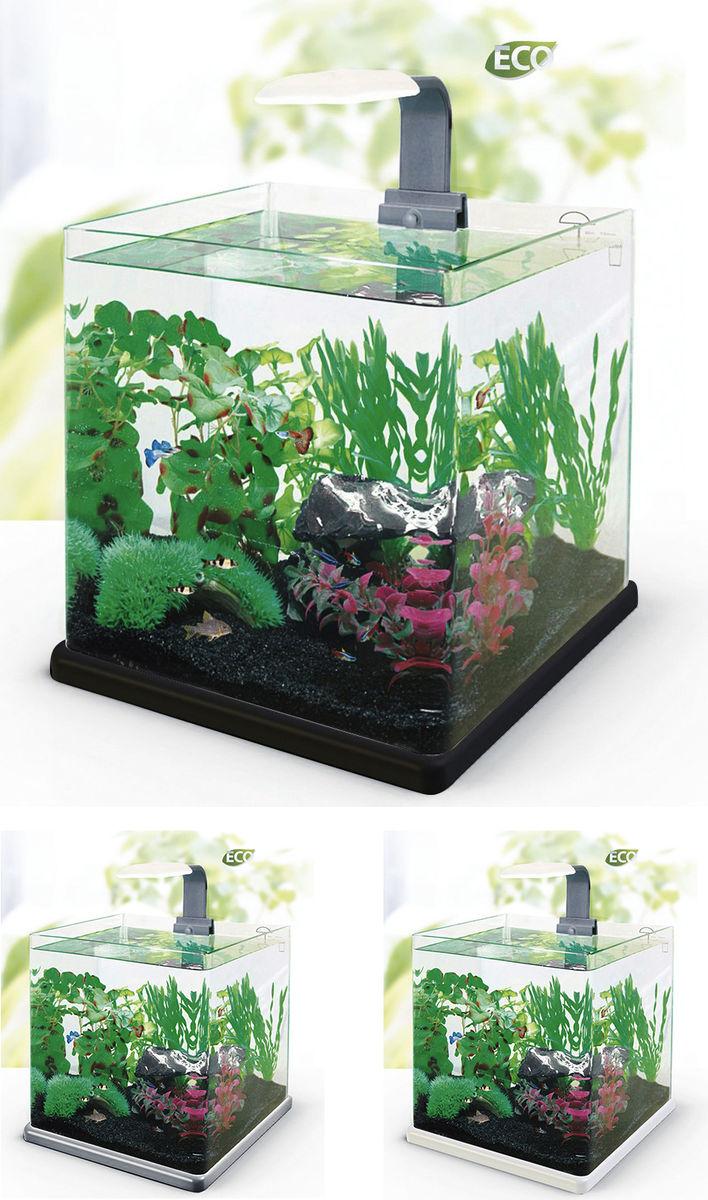 Нано-аквариум 40 литров с оборудованием (чёрный) HL-Q-40B