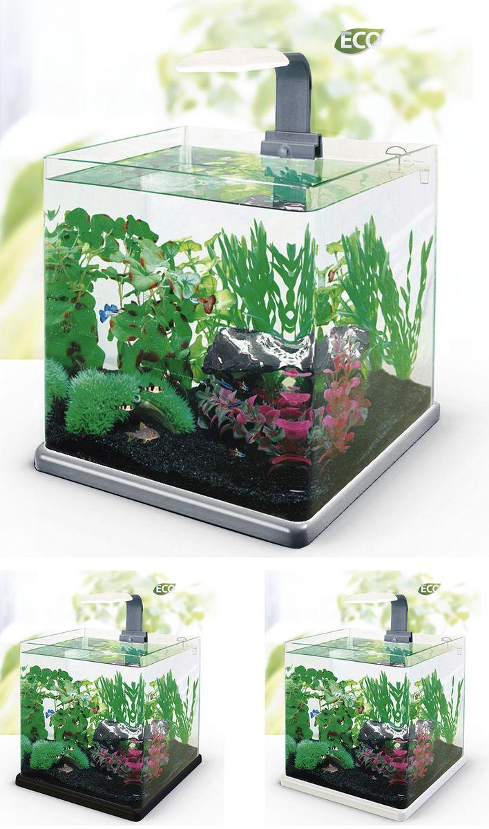 Нано-аквариум 40 литров с оборудованием (серый) HL-Q-40G