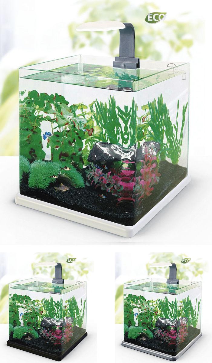 Нано-аквариум 40 литров с оборудованием (белый) HL-Q-40W