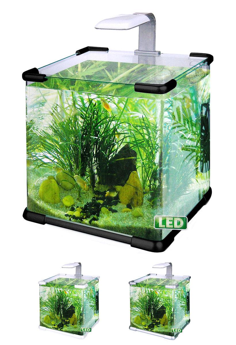 Нано-аквариум 40 литров с оборудованием (чёрный) HL-C-40B
