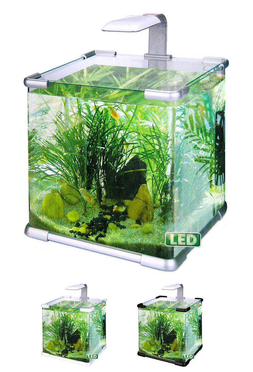 Нано-аквариум 40 литров с оборудованием (серебро) HL-C-40S