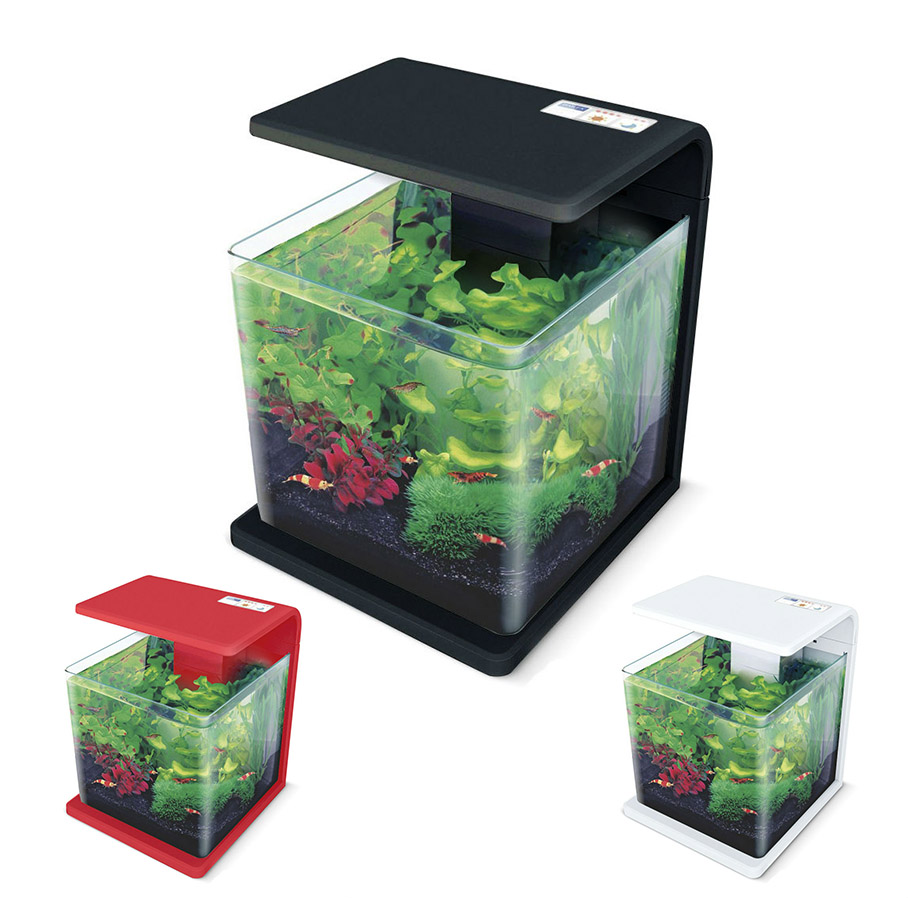 Нано-аквариум 15 литров с оборудованием (чёрный) HL-E15B