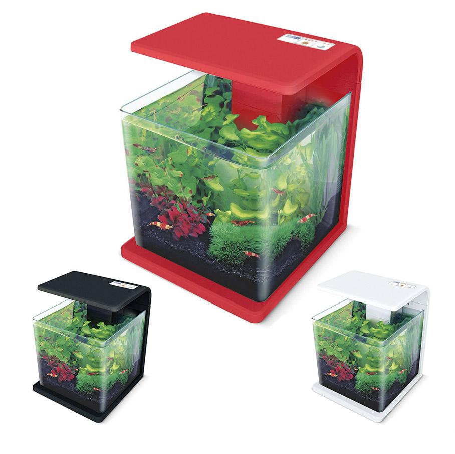 Нано-аквариум 15 литров с оборудованием (красный) HL-E15R