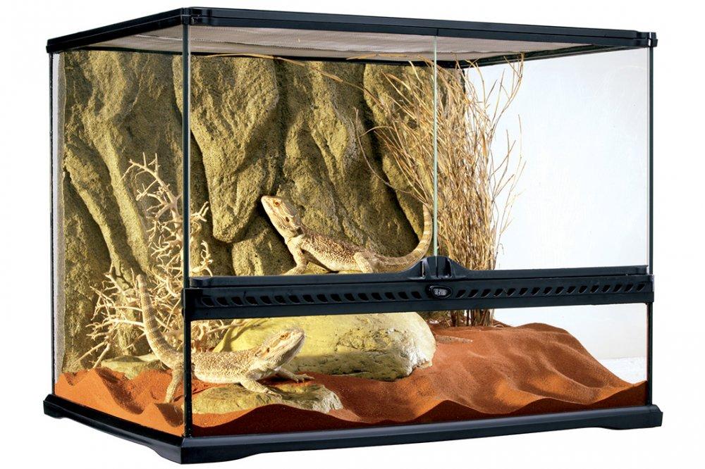 Террариум EXO TERRA 60х45х45 с объёмным фоном