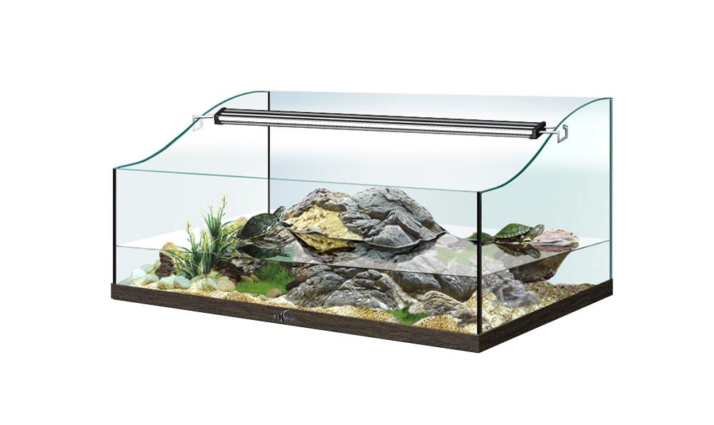 Террариум TURT-HOUSE AQUA 55 для водных черепах 42л 55x35x32