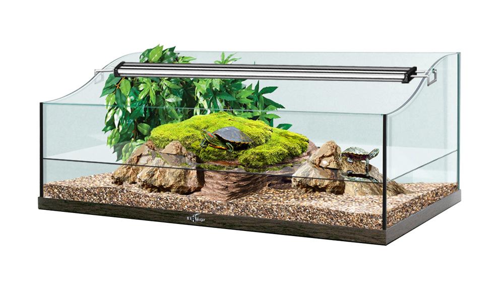 Террариум TURT-HOUSE AQUA 100 для водных черепах 123л 100x50x38