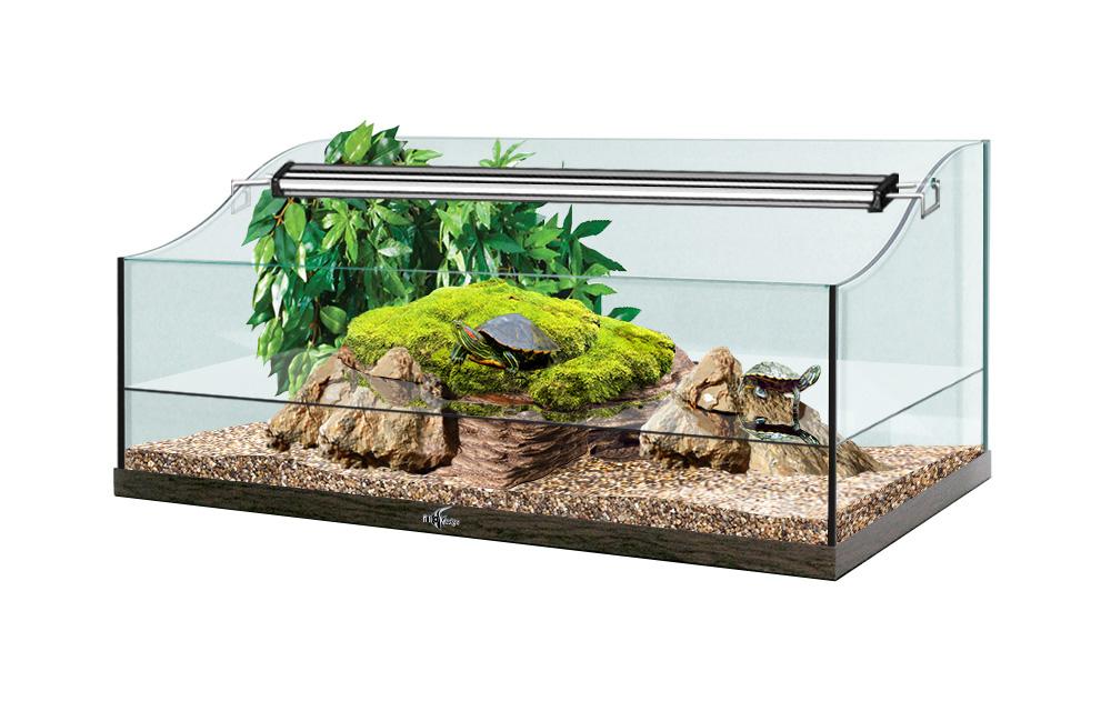 Террариум TURT-HOUSE AQUA 70 для водных черепах 64л 70x40x34