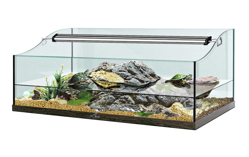 Террариум TURT-HOUSE AQUA 85 для водных черепах 92л 85x45x36