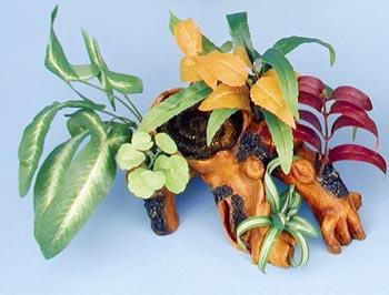 Декоративная коряга с растениями (DGL1)