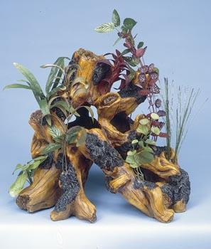 Декоративная коряга с растениями (DGSP1)