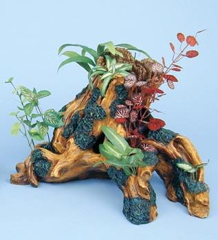 Декоративная коряга с растениями (DGT2)