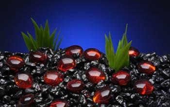 Камни декоративные красные 10 мм ( сетка 90 шт) AG5