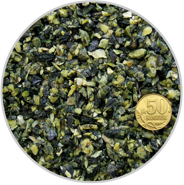 Грунт змеевик темно-зеленый размер 2-5 мм (пакет 4л.) 5 кг 916205/5