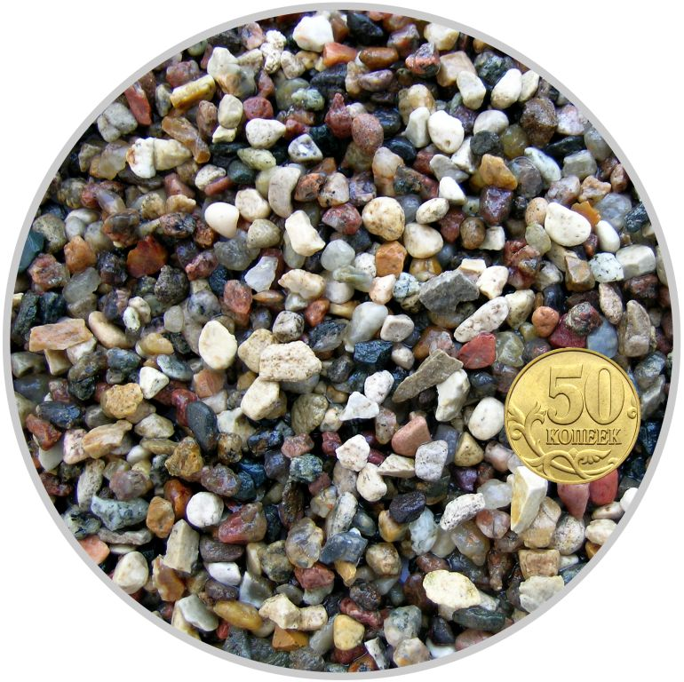 Грунт гравий гранитный красно-черный размер 5-10 мм (пакет 4л.) 5 кг 916202/5