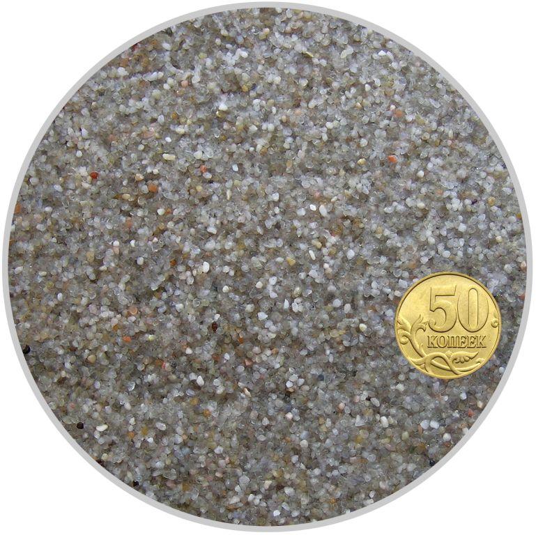 Грунт окатанный кварцевый песок молочный размер 0,8-1,4 мм (пакет 4л.) 5 кг 916194/5