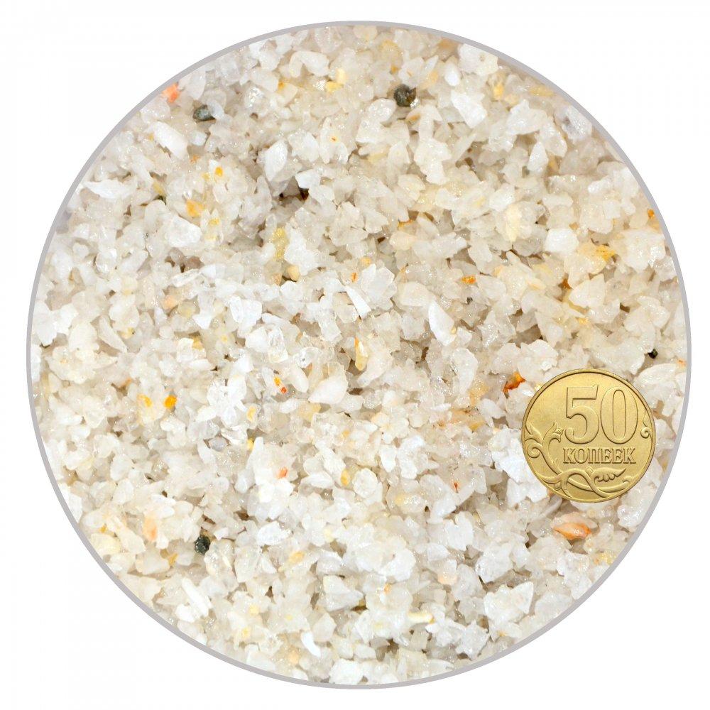 Грунт кварцевая крошка (белая) 1-3 мм (пакет 4л.) 5 кг 916013/5
