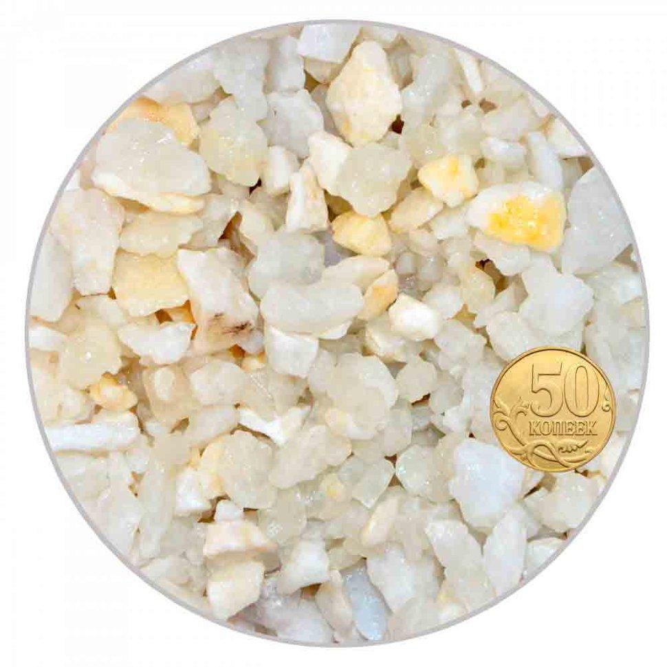 Грунт мрамор белый 5-10 мм (пакет 4л.) 5 кг 916017/5