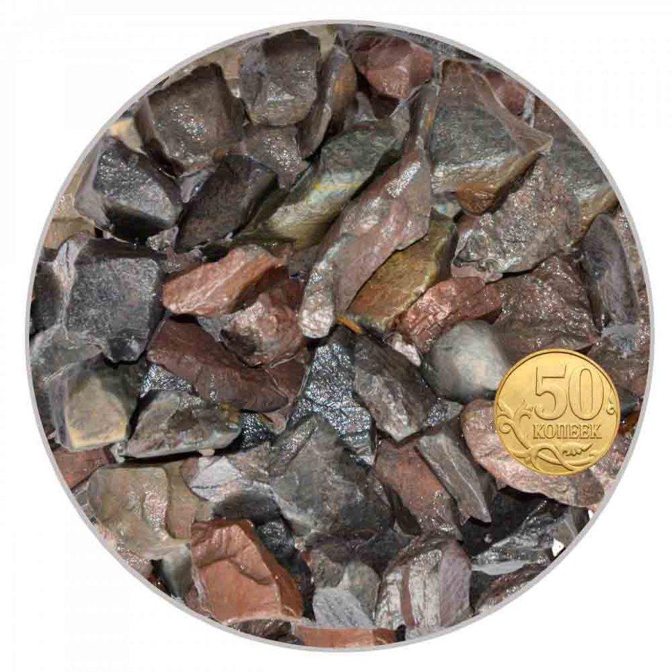 Грунт шунгит черный крупный 10-20 мм  (пакет 4л.) 5 кг 916157/5