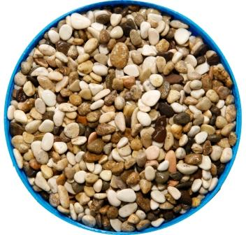Грунт для аквариума галька морская 3-5 мм бело-коричневая (пакет 4л.) 5 кг 916168/5