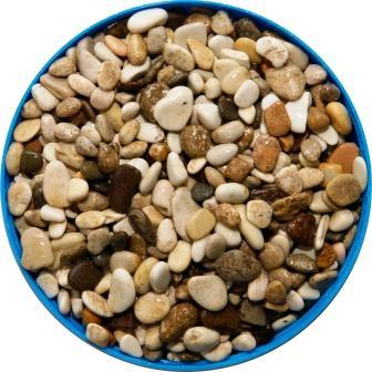 Грунт для аквариума галька морская 5-7 мм бело-коричневая (пакет 4л.) 5 кг 916001/5/7