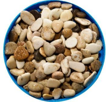 Грунт для аквариума галька морская 10-20 мм бело-коричневая (пакет 4л.) 5 кг 916170/5